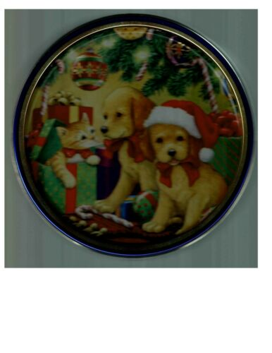 Kitten and Labrador Retriever Dog Puppy Collectible Tin