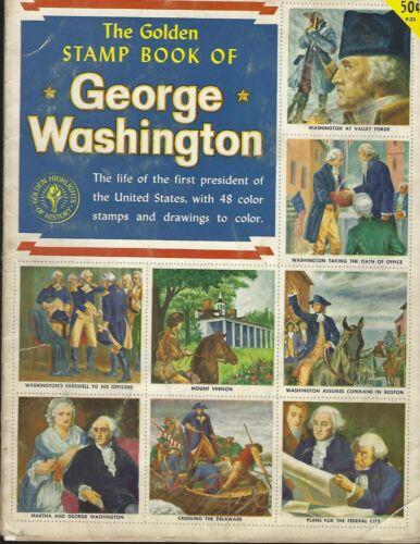 1954  GOLDEN  STAMP  BOOK  OF  GEORGE  WASHINGTON   48  STAMPS