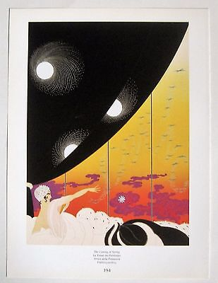 Original Erte' Art Print Titled THE COMING OF SPRING - Art Deco