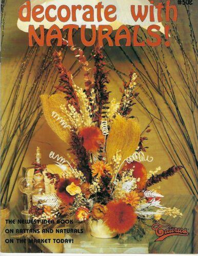 Decorate with Naturals Rattan Floral Arrangements Vintage 1970
