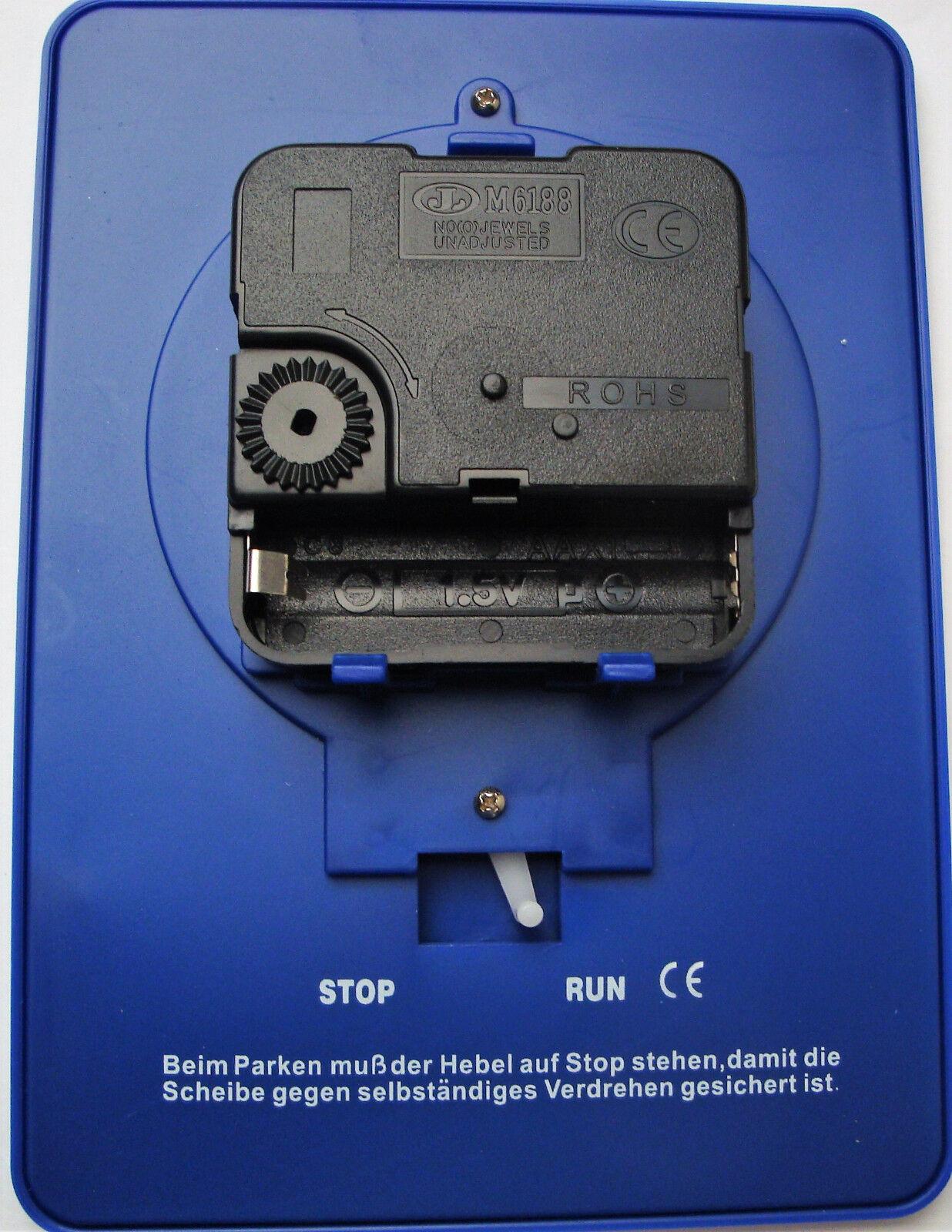 2x  Elektronische mitlaufende Parkscheiben Parkuhr mit Uhrwerk  NEU EAXUS