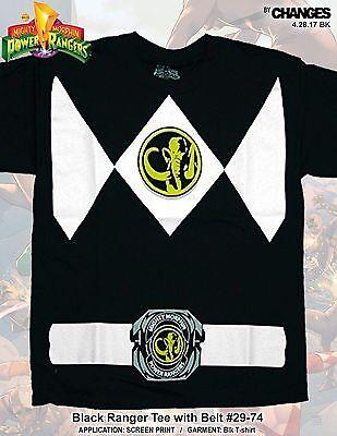 Mighty Morphin Power Rangers Schwarz Ranger Superheld Halloween Kostüm - Schwarzer Mighty Morphin Power Ranger Kostüm