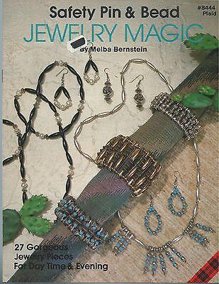 Safety Pin & Bead JEWELRY MAGIC Melba Bernstein Beading Instruction Book OOP NEW
