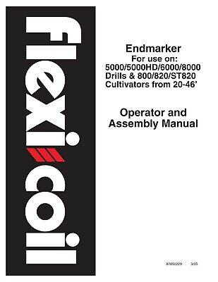 Case 5000 Flexi Coil Tillage Endmarker On Drills Cultivators Operators Manual