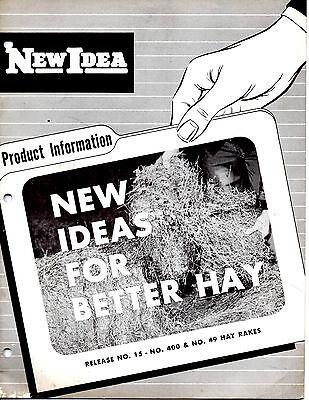 Original 1940s New Idea Hay Rake Information-new Ideas For Better Hay Booklet