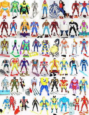 "Choice of 90s Toy Biz 5/"" Marvel Action Figures Spiderman X Men Avengers Iron Man"
