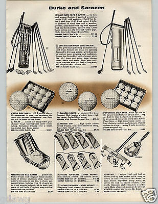 1957 PAPER AD Golf Billy Burke Sarazen Ball Cart Lou Ferris Gasoline Wilson