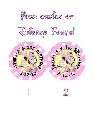 Minnie Mouse 1st Birthday Party Favors (20 Minnie Mouse 1st First Birthday Stickers Lollipop Labels Party Favors 2)