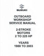 SUZUKI OUTBOARD SERVICE/REPAIR MANUAL FOR 1988-2003 2