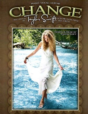 Taylor Swift sheet music CHANGE 2008 5 pages (VG+ shape)