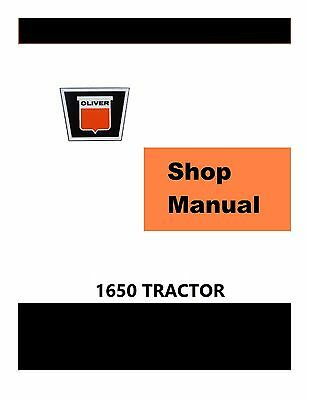 Oliver 1650 Factory Shop Service Manual Reproduction