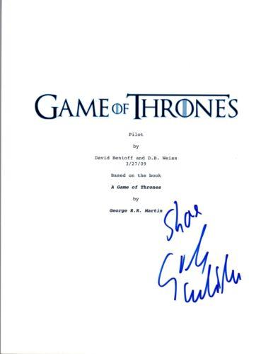Sibel Kekilli Signed Autographed Game of Thrones Pilot Episode Script COA VD