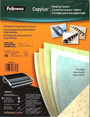 Fellowes Copylux Binding Covers - Printable Presentation Covers - Ivory