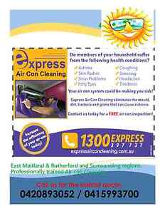 Express Air Con Cleaning Rutherford & East Maitland East Maitland Maitland Area Preview