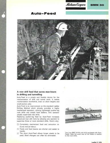Equipment Brochure - Atlas Copco - Auto-Feed for Drill Mining - c1960