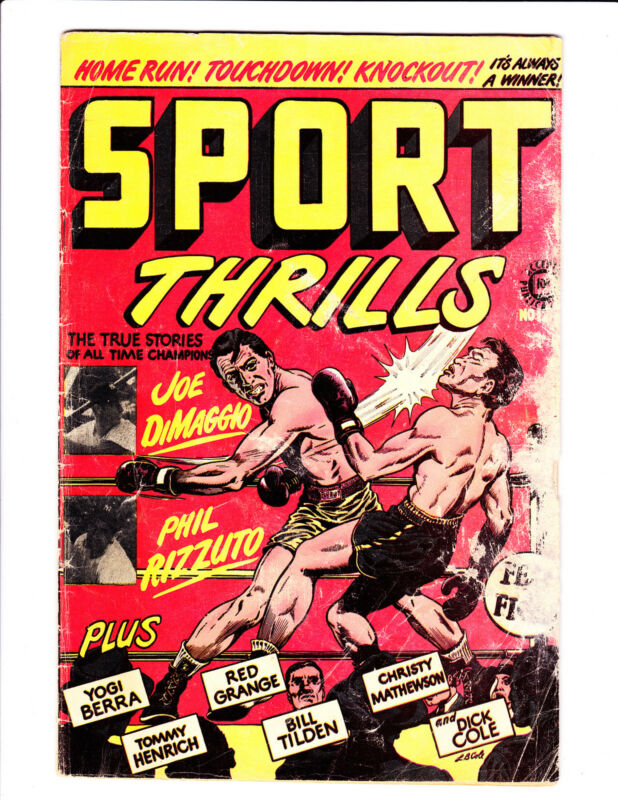 Sport Thrills   No.12     : 1950 :      : Boxing Cover! :