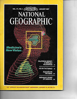 January1987 National Geographic Featuring Medicines New Vision