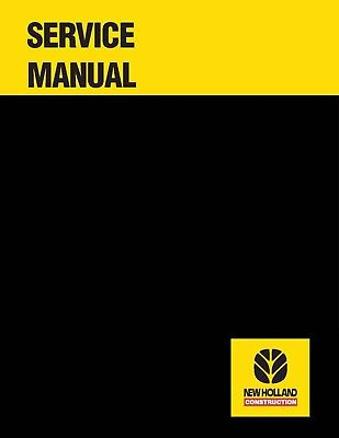 New Holland Lw170 Lw190 Wheel Loader Service Manual Repair Technical Shop Book