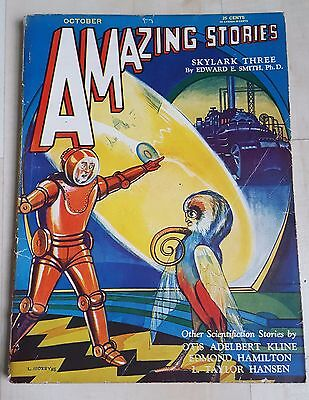 Amazing Stories vintage pulp fiction comic Oct 1930 vol 5 no 7