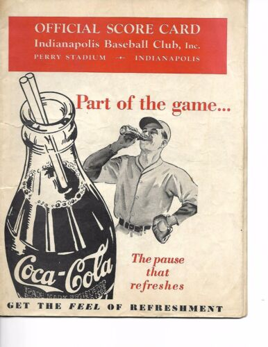 1938 Indianapolis Indians-Toledo Mud Hens American Association Program RARE!!