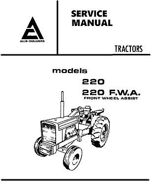 Allis Chalmers 220 Tractor Service Manual Book Reproduction