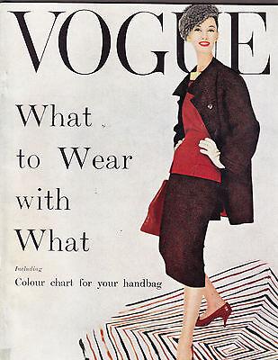 VOGUE British October 1955 Coffin FURS Henry Clarke Norman Parkinson Suits