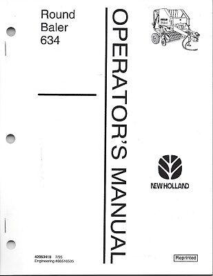 New Holland 634 Round Baler Operator Manual 42063410