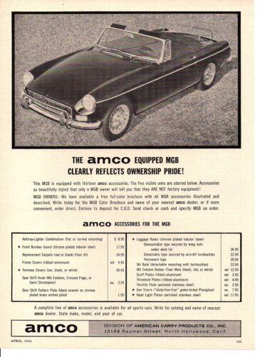1964 MGB ~ NICE ORIGINAL AMCO AD