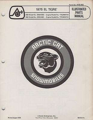 1975 ARCTIC CAT SNOWMOBILE EL TIGRE' P/N 0185-055 PARTS MANUAL (069)