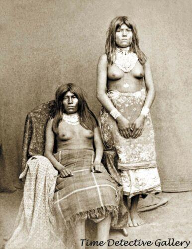 Paiute Indian Girls - circa 1870s - Historic Photo Print