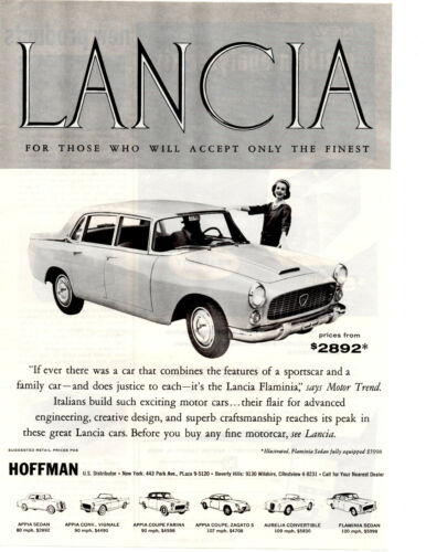 1959 LANCIA FLAMINIA  ~   ORIGINAL HOFFMAN MOTOR CARS PRINT AD