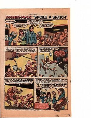 Hostess cupcakes spider-man  spoils a snatch Comic Print Ad