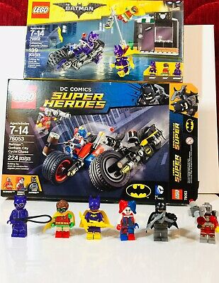 Lego Lot DC Batman Gotham City Cycle Chase 76053 & 70902 Catwoman Complete