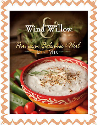 WIND & WILLOW 1 Pack Parmesan Balsamic/Herb Dip Mix~For Chips, Veggies, Crackers - Dip For Crackers