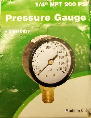 ProPlumber Plastic/Steel Pressure-Gauge #583651