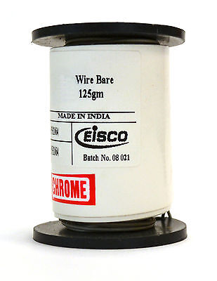 Chromium Resistance Wire 1000ft Reel 32 Gauge Swg - 3334 Awg - 0.0108 Dia.
