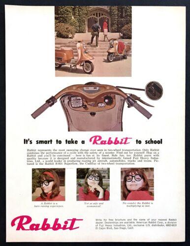1965 Fuji Rabbit S-601 Superflow Scooter photo Fun at Its Finest promo print ad