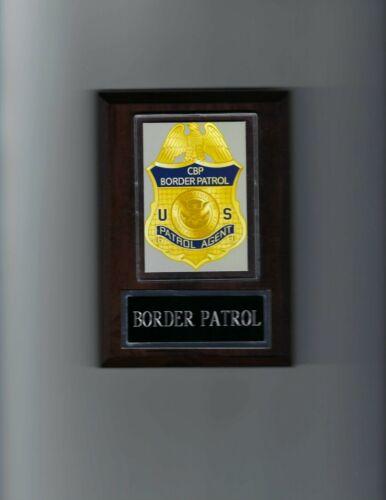 CBP BORDER PATROL PLAQUE LAW ENFORCEMENT PATROL AGENT PHOTO PLAQUE