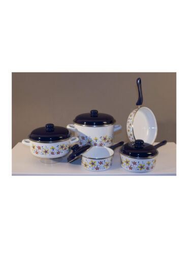 Enamel cookware set - 9 pieces