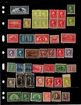 Lot of  80+unused U.S. 19th & early 20th century, all with faults  2 scans