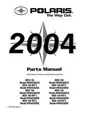 Polaris watercraft parts manual 2004 FOUR STROKE MSX 150