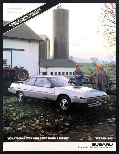 "1987 Subaru Turbo XT Coupe photo ""I Thought You Were Buying a Subaru?"" print ad"