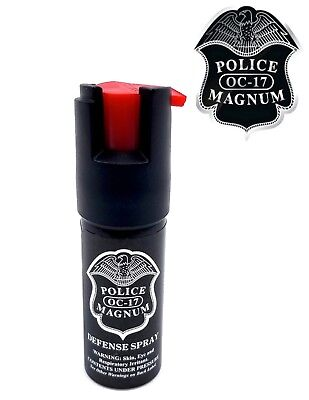 Police Magnum pepper spray 1/2oz unit safety lock defense security protection