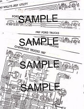 1957 WILLYS JEEP UTILITY 4 & 6 CYLINDER 57 WIRING GUIDE
