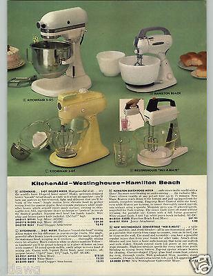 1958 PAPER AD Kitchenaid Electric Food Mixer 3 5 Qt Deluxe Hamilton Beach