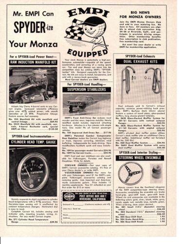 1962 EMPI KIT FOR CORVAIR MONZA ~ ORIGINAL PRINT AD