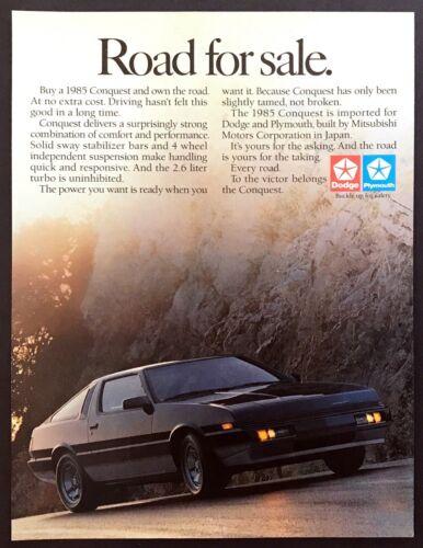 """1985 Mitsubishi Dodge Import Conquest Coupe photo """"Road for Sale"""" promo print ad"""