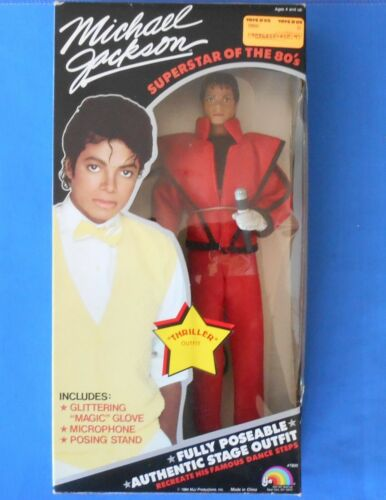 1984 VINTAGE Michael Jackson Action Figure Doll, Thriller,  New In Box