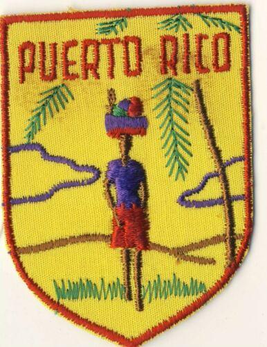 """Puerto Rico PR Head-Carrying Fruit Souvenir Tourist 2.75"""" Patch"""
