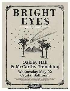 BRIGHT EYES 2007 Gig POSTER Portland Oregon Concert